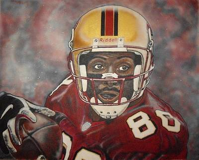 Jerry Rice Poster by Rob McNamara