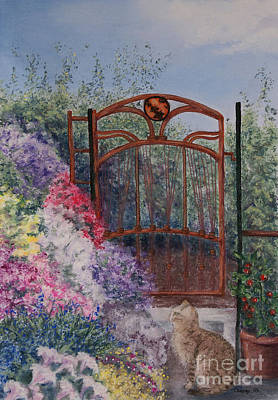 Poster featuring the painting Jerrys Garden by Stanza Widen