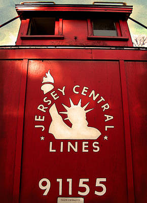 Jersey Central Lines Poster by Colleen Kammerer