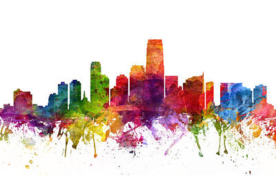 Jersey City Cityscape 06 Poster