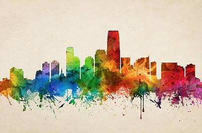 Jersey City Skyline 05 Poster