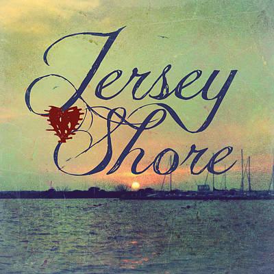 Jersey Shore Sunset V1 Poster by Brandi Fitzgerald