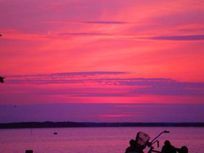 Poster featuring the photograph Jersey Sunset by Susan Carella