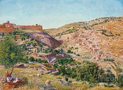 Jerusalem And The Valley Of Jehoshaphat  Poster by MotionAge Designs