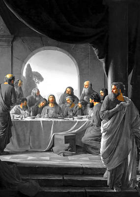 Jerusalem Last Supper Poster by Munir Alawi