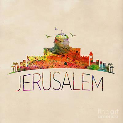 Jerusalem Poster by Mark Ashkenazi