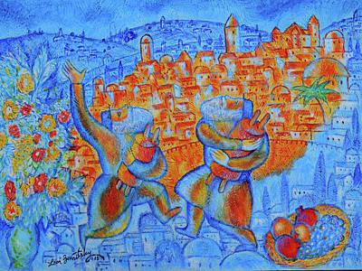 Jerusalem Of Gold Poster by Leon Zernitsky