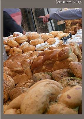 Jerusalem Shuk-the Bread Poster by Sandrine Kespi