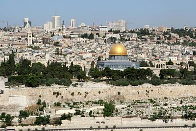 Poster featuring the photograph Jerusalem Skyline by Steven Frame