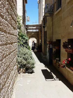 Jerusalem-walking In The Streets Poster by Sandrine Kespi