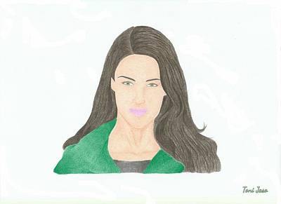 Jessica Lowndes Poster by Toni Jaso