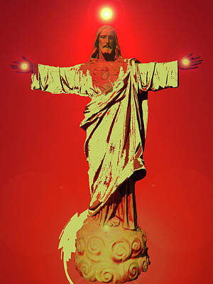 Jesus Bless No. 01 Poster by Ramon Labusch