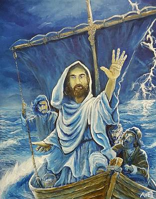 Jesus Calms The Sea Poster by Nicolas Avet