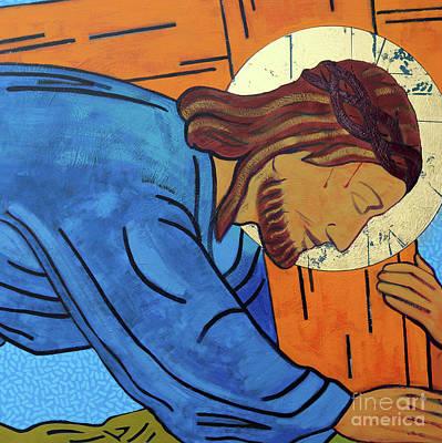 Jesus Falls Under The Cross Poster