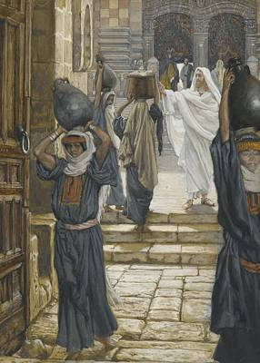 Jesus Forbids The Carrying Of Loads In The Forecourt Of The Temple Poster by Tissot
