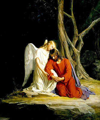 Jesus In Gethsemane Poster by Carl Heinrich Bloch