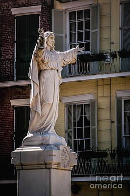 Jesus In The Garden - New Orleans Poster by Kathleen K Parker