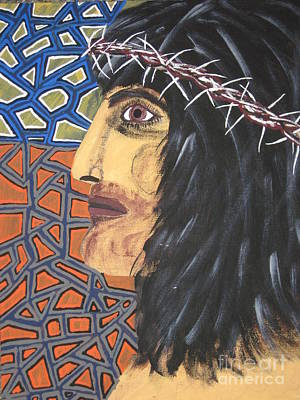 Poster featuring the painting Jesus by Jeffrey Koss