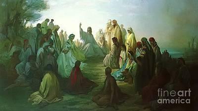 Jesus Preaching The Sermon Poster