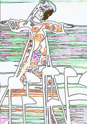 Jesus The Vine Poster by Gloria Ssali