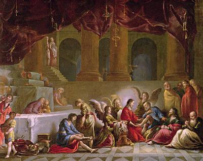 Jesus Washing The Disciples Feet  Poster