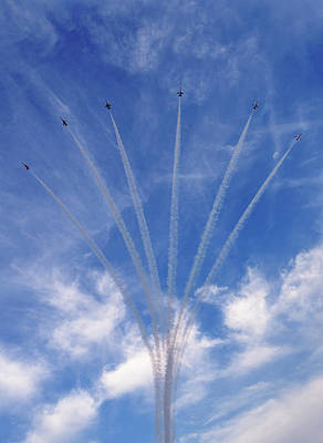 Jet Planes Formation In Sky Poster