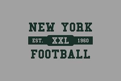 Jets Retro Shirt Poster by Joe Hamilton