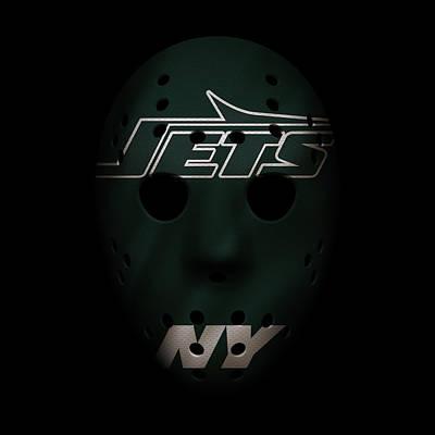 Jets War Mask 4 Poster by Joe Hamilton