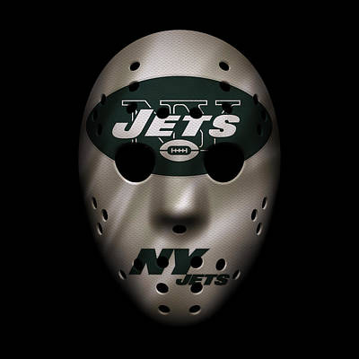 Jets War Mask Poster by Joe Hamilton