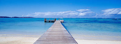 Jetty On The Beach, Mauritius Poster by Panoramic Images