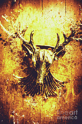 Jewel Deer Head Art Poster by Jorgo Photography - Wall Art Gallery