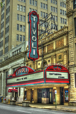 Jewel Of The South Tivoli Chattanooga Historic Theater Art Poster