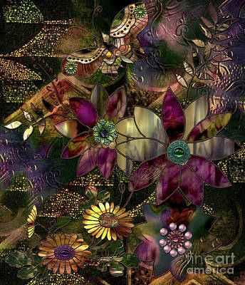 Jewelry Box Garden Poster by Mindy Sommers
