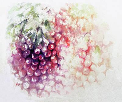 Jewels On The Vine Poster by Rachel Christine Nowicki