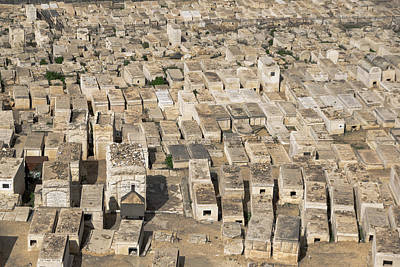 Jewish Cemetery On Mount Of Olives Poster
