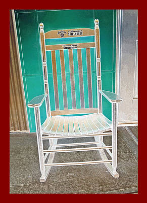 Jim Beam Rocking Chair - Color Invert Poster