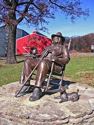 Jim Beam Statue Poster by Marian Bell