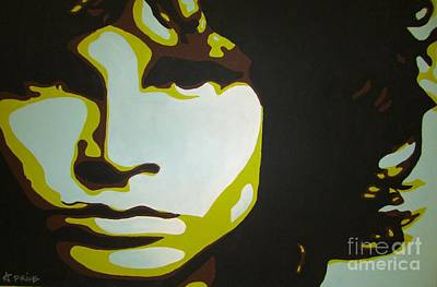 Poster featuring the painting Jim Morrison by Ashley Price
