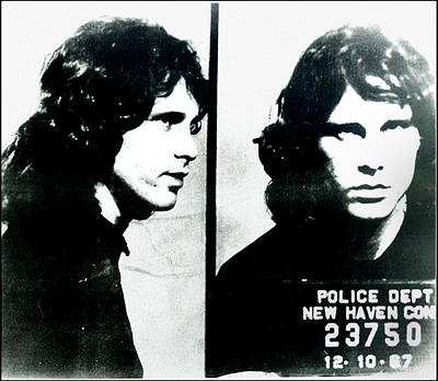 Jim Morrison Mugshot - New Haven Connecticut Poster by Bill Cannon