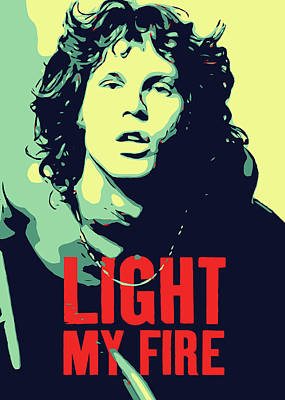 Jim Morrison Poster by Greatom London