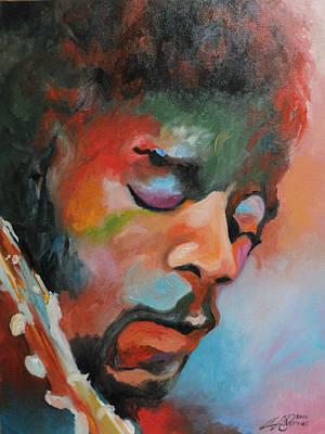 Jimi Hendrix At Monterrey Poster