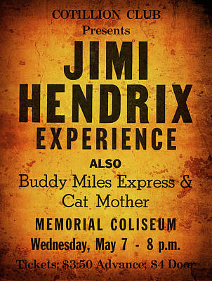 Jimi Hendrix Concert Poster May 7, 1969 Poster