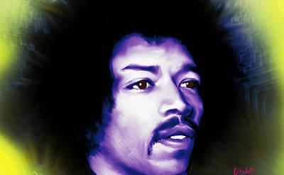 Jimi Hendrix  Poster by Enki Art