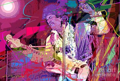 Jimi Hendrix Monterey Pops Poster by David Lloyd Glover