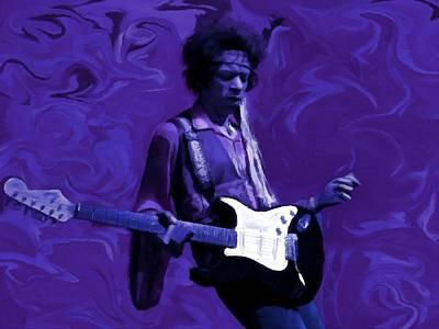 Poster featuring the painting Jimi Hendrix Purple Haze P D P by David Dehner