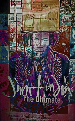 Poster featuring the photograph Jimi Hendrix - Ultimate Legend by Walter Fahmy