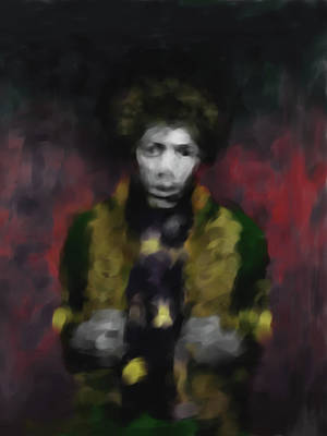 Jimmi Hendrix 550 2 Poster by Mawra Tahreem