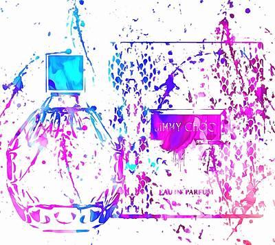 Jimmy Choo Perfume Paint Splatter Poster by Dan Sproul