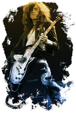 Jimmy Page Live Artwork  Poster