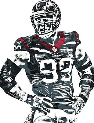 Jj Watt Houston Texans Pixel Art 5 Poster by Joe Hamilton